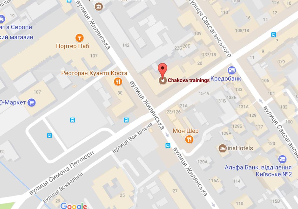 карта Chakovatrainings